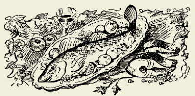 рыба запечённая в соусе из помидоров с чесноком