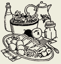 рыба тушёная в молочном соусе с грибами (русская кухня)