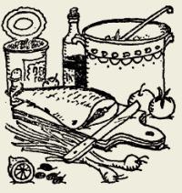 скумбрия тушёная в сметанном соусе с овощами (русская кухня)