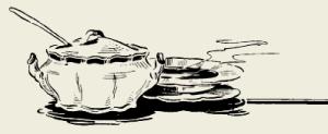 Бульон «Борщок» с сырными гренками