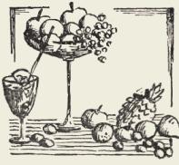 Компот из яблок с вином