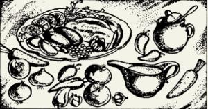 Язык в томатном соусе с вином и черносливом