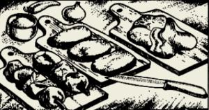 Бифштекс рубленный из телятины с грибами