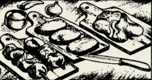 Котлеты из курицы с сыром, грибами и овощами