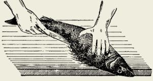 Салат слоёный из рыбы горячего копчения