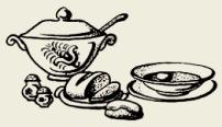 суп картофельный с рисом , мясом или птицей