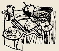 Бутерброды горячие с копчёным шпиком, сыром и луком