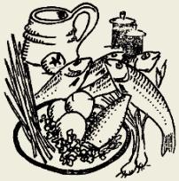 Салат из копчёной рыбы с овощами