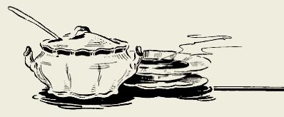 Суп грибной со шпиком
