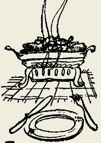 Картофель тушёный с копчёной грудинкой
