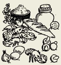 Креветки в томатном соусе с рисом и сыром