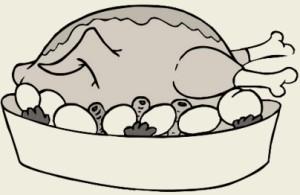 Индейка тушёная с копчёной грудинкой и грибами
