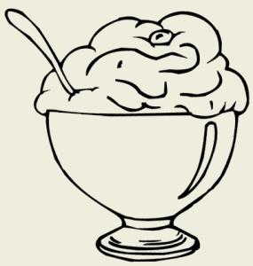 Крем десертный из ряженки и сметаны с клубничным соусом