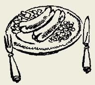 Колбаски мясные с картофелем