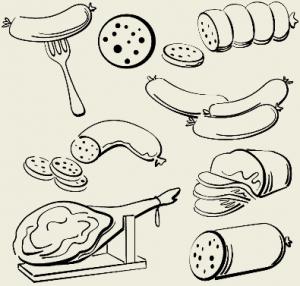 Поджарка из колбасы