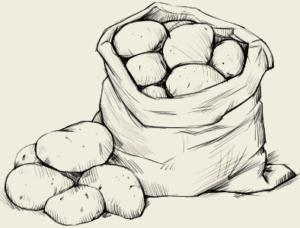 Картофель запечённый, картофель