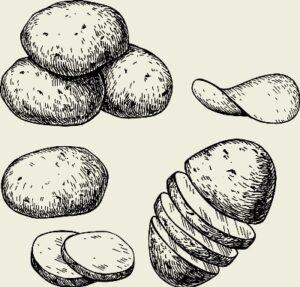 Кавурма из картофеля